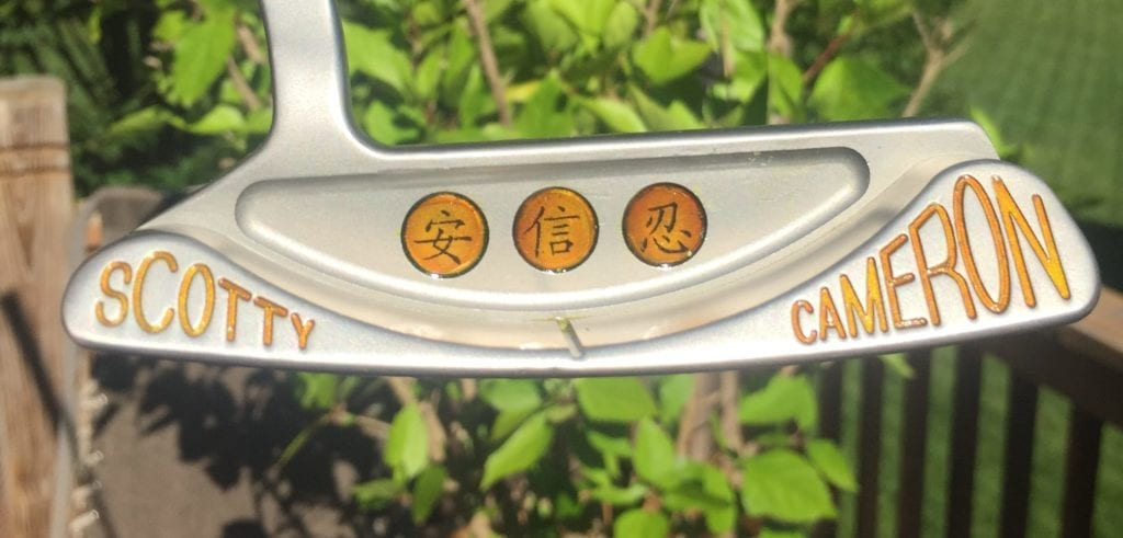 scotty cameron logo paintfill orange 2